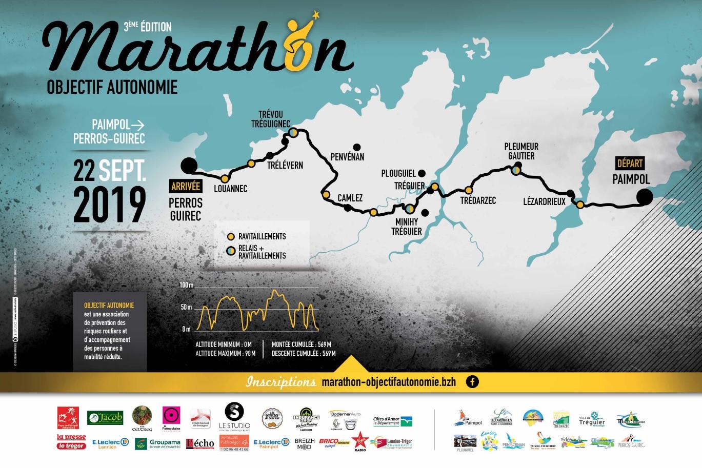 Parcours Marathon Objectif Autonomie 2019